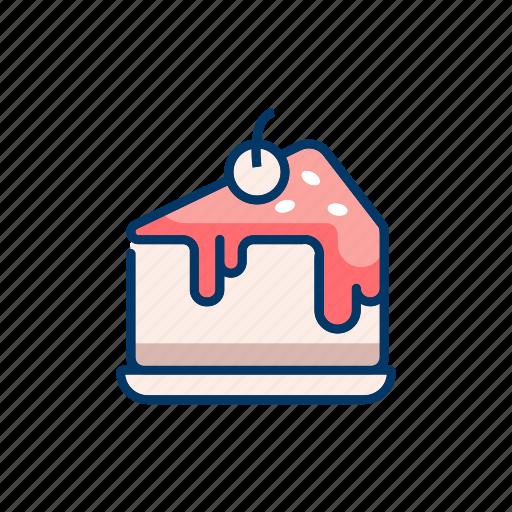 bakery, dessert, piece of cake, slice, sweet icon