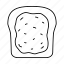 bread, breakfast, food, jam, sandwich, toast, toast bread icon
