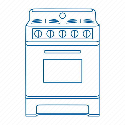 appliance, gas, kitchen, oven, range, stove icon