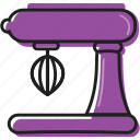 baking, business, cooking, equipment, food, kitchen, kitchenaid, mixer, purple, restaurant, tools icon