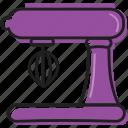 baking, business, cooking, equipment, food, kitchen, kitchenaid, mixer, purple, restaurant, tools icon