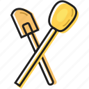 baking, brush, cooking, food, kitchen, meal, mixing, spoons, sweet, utensils icon