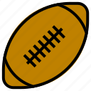 ball, filled, outline, rugby, sport
