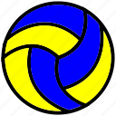 ball, filled, outline, sport, volley icon