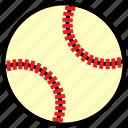 ball, baseball, filled, outline, sport