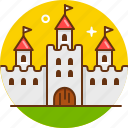 bastion, castle, king, medieval, rpg, tower icon