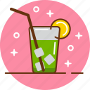 cocktail, drinks, fresh, vacation icon
