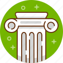 art, colosseum, column, greek, pillar, rome icon