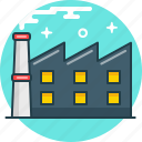 fabric, factory, industry, manufactory, plant icon