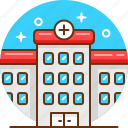 hospital, medical center, medicine icon
