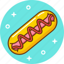 eat, fast, food, hotdog icon