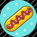 eat, fast, food, hotdog icon