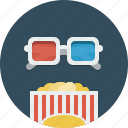 cinema, movie, popcorn, video icon