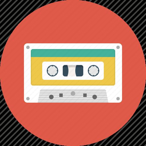 audio, cassette, listen, media, music, recording, vintage icon