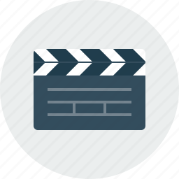 clap, film, movie, video icon