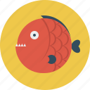 angry, animal, fish icon