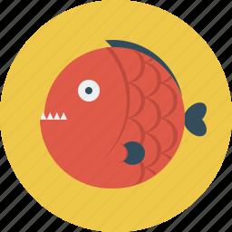 angry, animal, fish icon