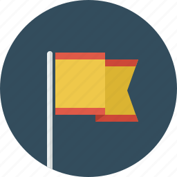 flag, pin icon