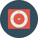 apple, ipod, music, pause, play, player, song icon