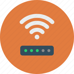antenna, connection, internet, network, router, signal, wi-fi, wifi, wireless icon