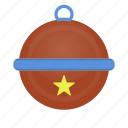 ball, bell, decor, pet icon