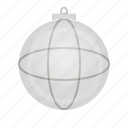 ball, christmas, decor, granat, murble icon