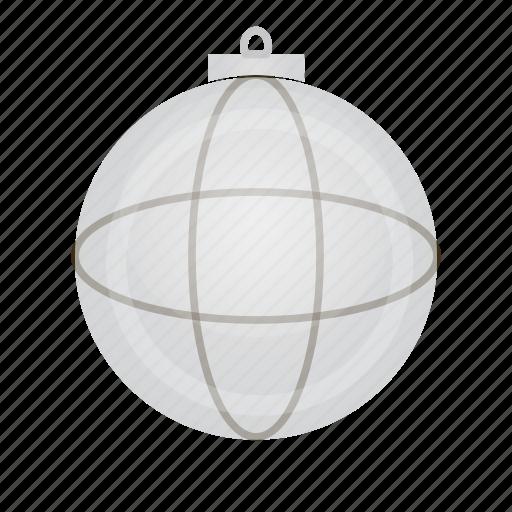 ball, christmas, decor, granat, murble icon