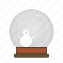 ball, christmas, decor, game, play, snow icon