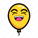 baloon, emoticon, happy, laugh icon