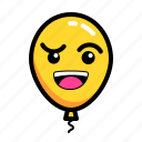 baloon, confuse, emoticon, thingking icon