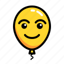 baloon, emoticon, happy, smile icon