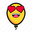 baloon, emoticon, like, love icon