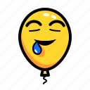 baloon, emoticon, hungry, sleepy, wanting icon