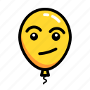 baloon, confuse, emoticon, fake, mock icon