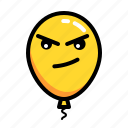 baloon, emoticon, evil, naughty icon