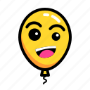 baloon, craze, emoticon, weird icon