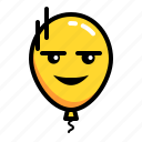 baloon, emoticon, noface, pale icon