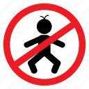 baby, ban, child, enter, no, notice, sign icon