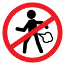 anywhere, ban, fart, no, notice, poop, sign icon