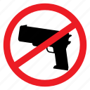 ban, fire, gun, no, rob, shoot, sign icon