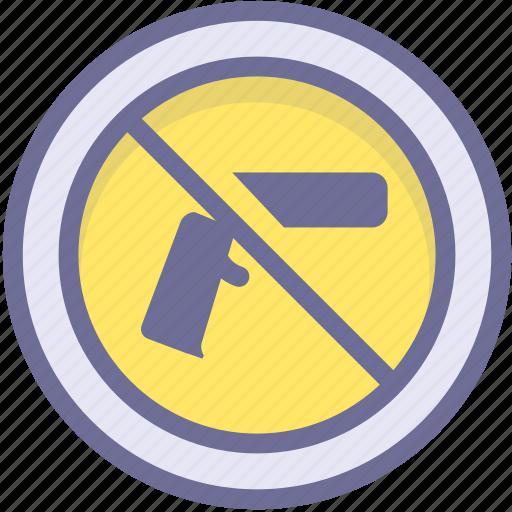 ban, block, prevention, prohibit firearms, stop icon