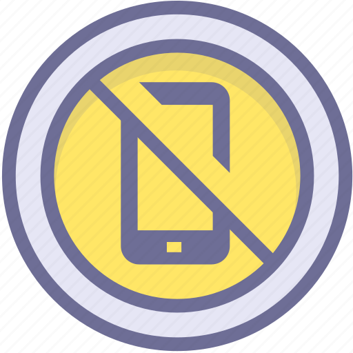 ban, block, prevention, prohibiting cell phones, stop icon