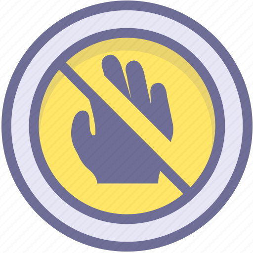 ban, block, prevention, prohibition touch, stop icon