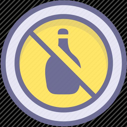 ban, block, prevention, prohibit alcohol, stop icon