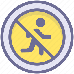 ban, block, no running, prevention, stop icon