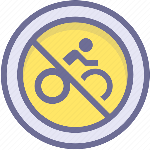 ban, block, no bicycle, prevention, stop icon