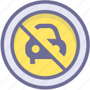 ban, block, no parking, prevention, stop icon