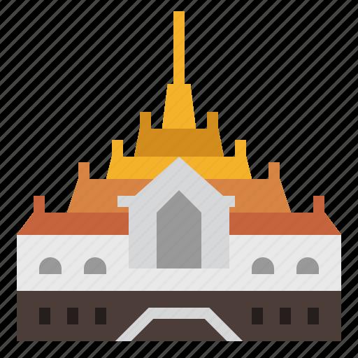 Bangkok, chakrimahaprasat throne hall, grand palace, landmark, thai, thailand icon - Download on Iconfinder