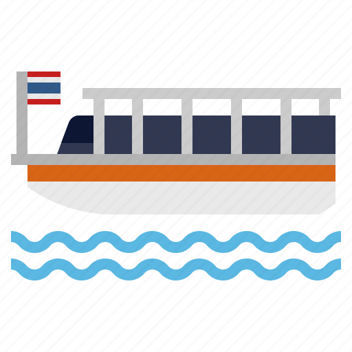 Bangkok, boat, chaophraya ferry, ship, thai, thailand, travel icon - Download on Iconfinder