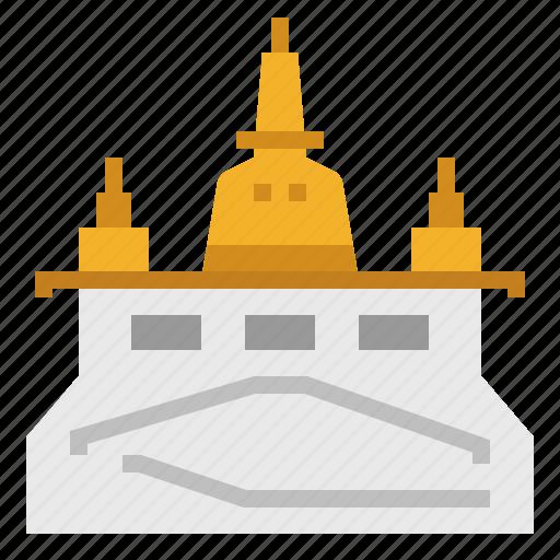 Bangkok, building, golden mount, landmark, thai, thailand, wat icon - Download on Iconfinder